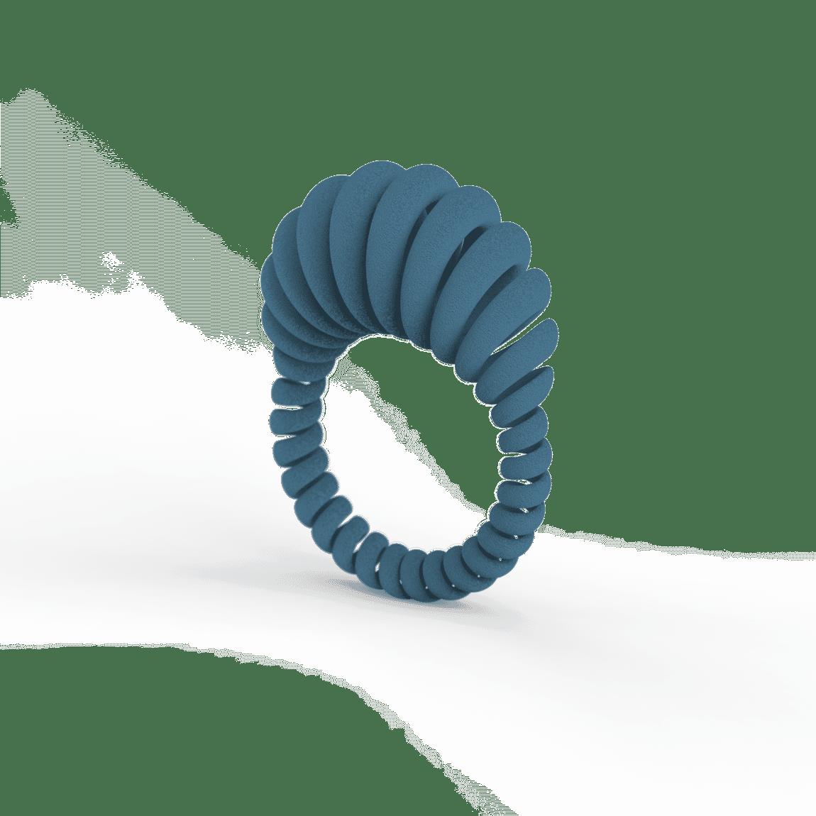 Ansel Ring Petrol Blue