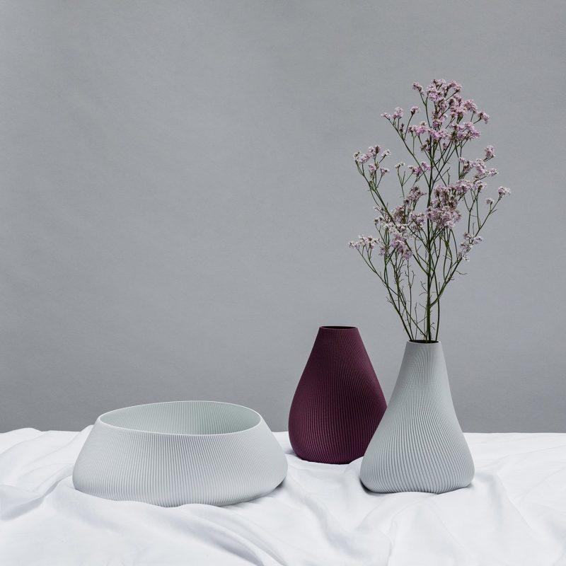 BLOZ Vase Schüssel Aubergine Grau 02