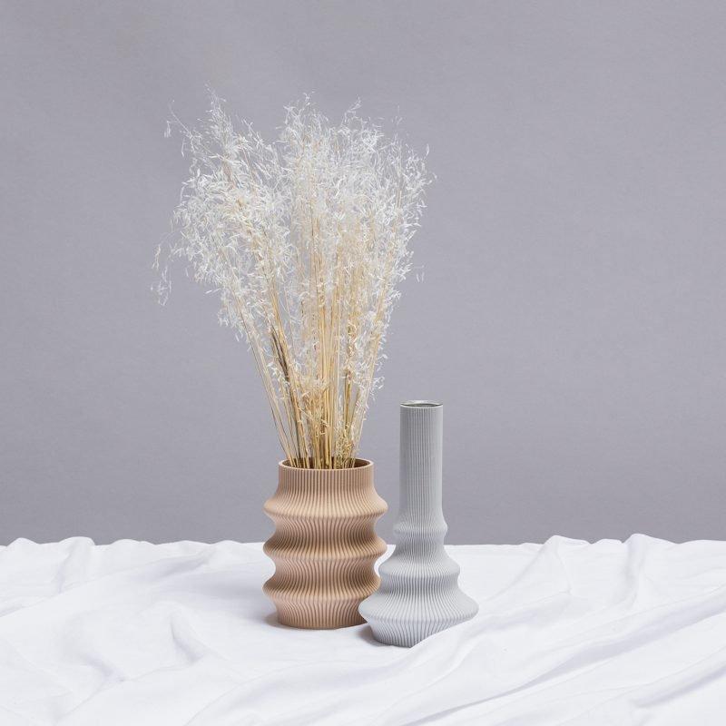 Sheyn Hohe Vase Grau 03