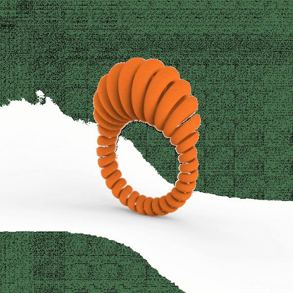 Ansel Ring Mandarin Orange